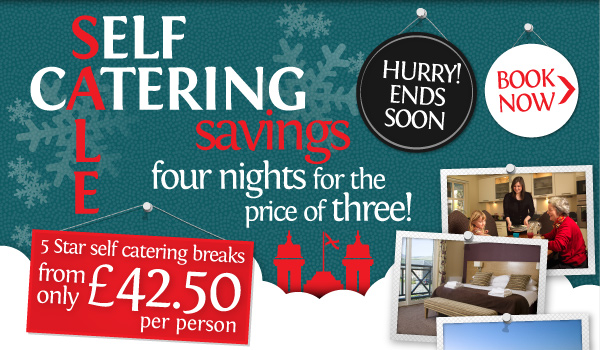 Self catering Savings. Four nights for the price of three! BOOK NOW>