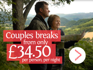 Couples breaks from only £34.50 per person, per night