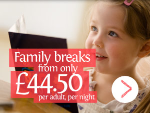 Family breaks from only £44.50 per adult, per night