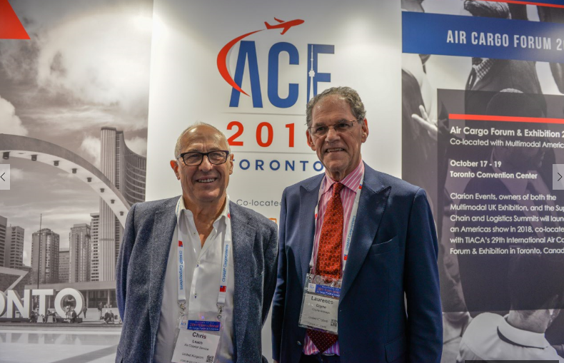 L-R - Chris Leach, Chairman, Air Charter Service; Larry Coyne, CEO, Coyne Airways