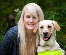 Guide dog owner Lynette with guide dog Pippa