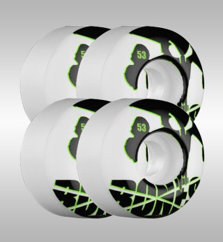 Bones 53mm Strobe Wheels