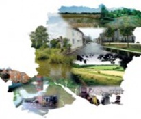 Picture montage in the shape of Hampshire